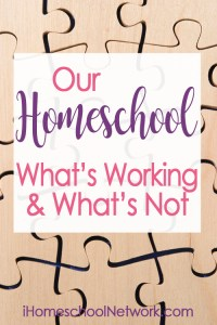 Mid Year Homeschool Review: What's Working and What's Not. Your homeschool curriculum, schedule, extra-curriculars, and attitudes might need an adjustment mid year, don't forget to take some time to review your goals and progress to keep yourself on track!