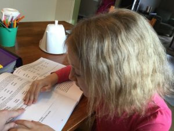 A Day in the Life of a Homeschooler - 1:1 time with mom