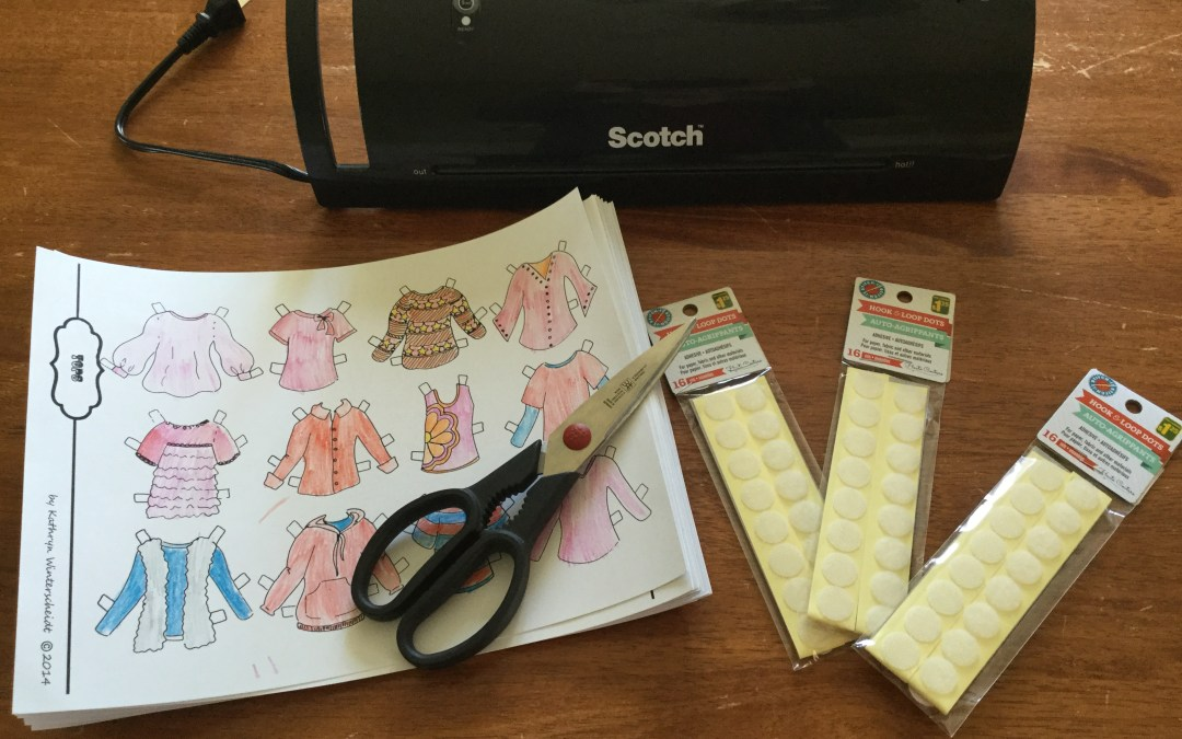 Laminated Paper Dolls – A Tutorial