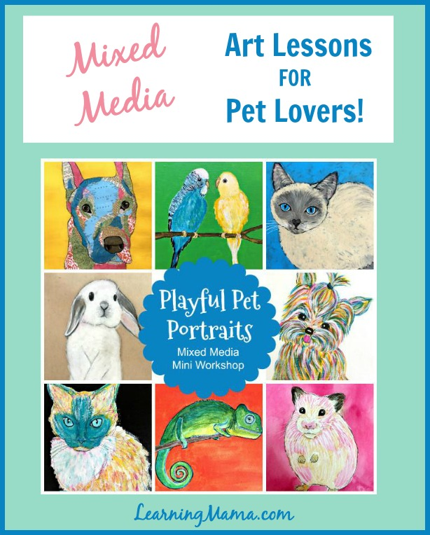 Mixed-Media Art Lessons for Pet Lovers: Alisha Gratehouse's Playful Pet Portraits Workshop