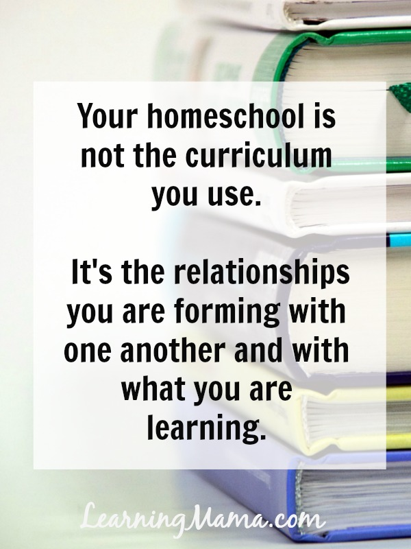 5 Reasons You Don't Need That Shiny New Curriculum - Your homeschool is not the curriculum you use