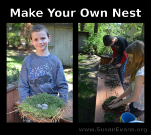 Things to do outside with your kids this summer: make bird nests!
