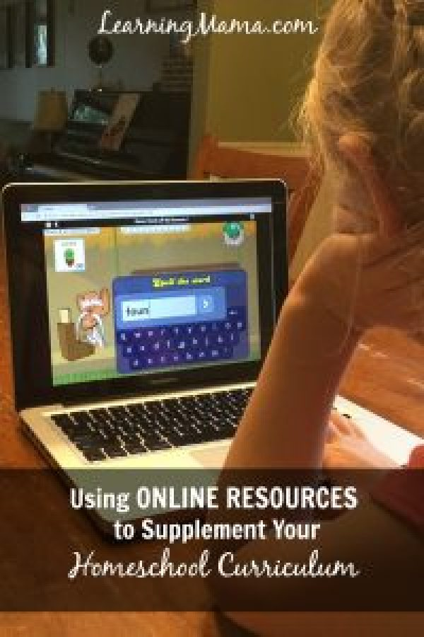Using online resources to supplement your homeschool curriculum - reading, spelling, writing, and math help