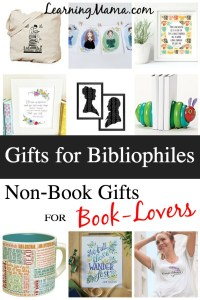 Great Gifts for the Bibliophile on Your List! Check out these non-book gifts for the book lover on your list. #christmasgifts #giftideas #bookworm #booklover