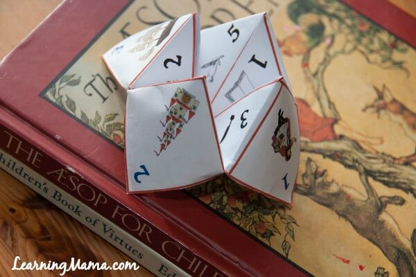 Fun Narration Cootie Catcher for Your Charlotte Mason Homeschool -- Narration prompts to help you and your child