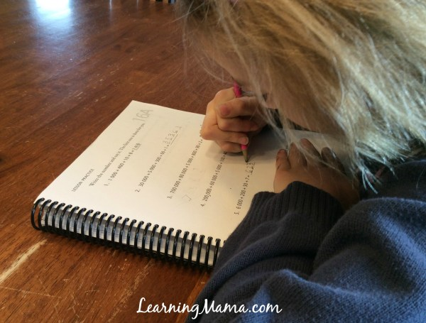 A Day in the Life of a Homeschooler - working with mom