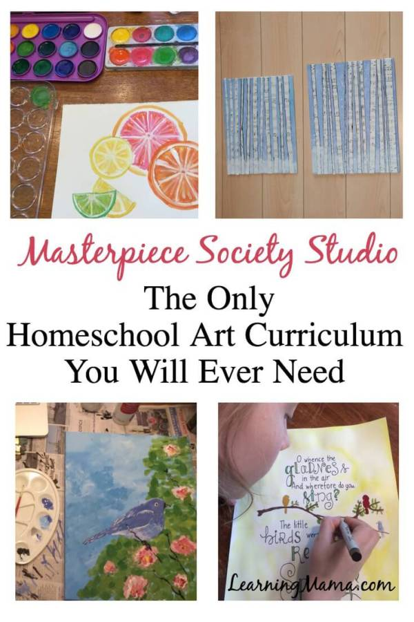 Drawing, sculpting, painting, watercolors, acrylic, chalk pastel, mixed-media - Get all the Homeschool Art You Will Ever Need with Masterpiece Society Studio