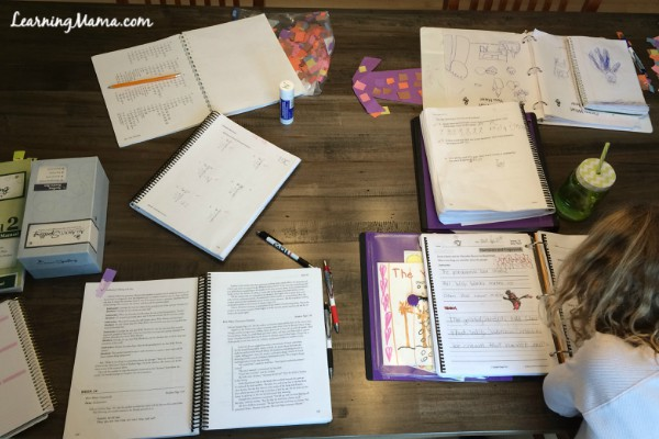 Mid-morning homeschool mess - a typical day in the life of our homeschool
