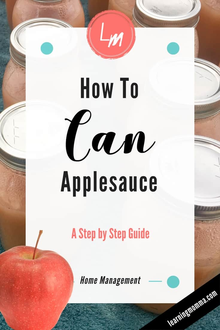 Canning applesauce, how to can applesauce, homemade applesauce recipe, make your own applesauce