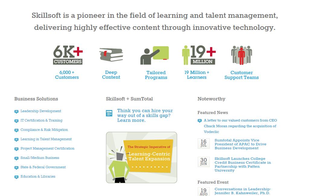 Skillsoft e-Learning Solutions