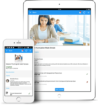 Mobile learning app from JoomlaLMS