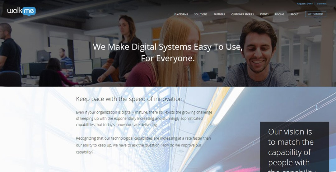 Digital adoption platform WalkMe