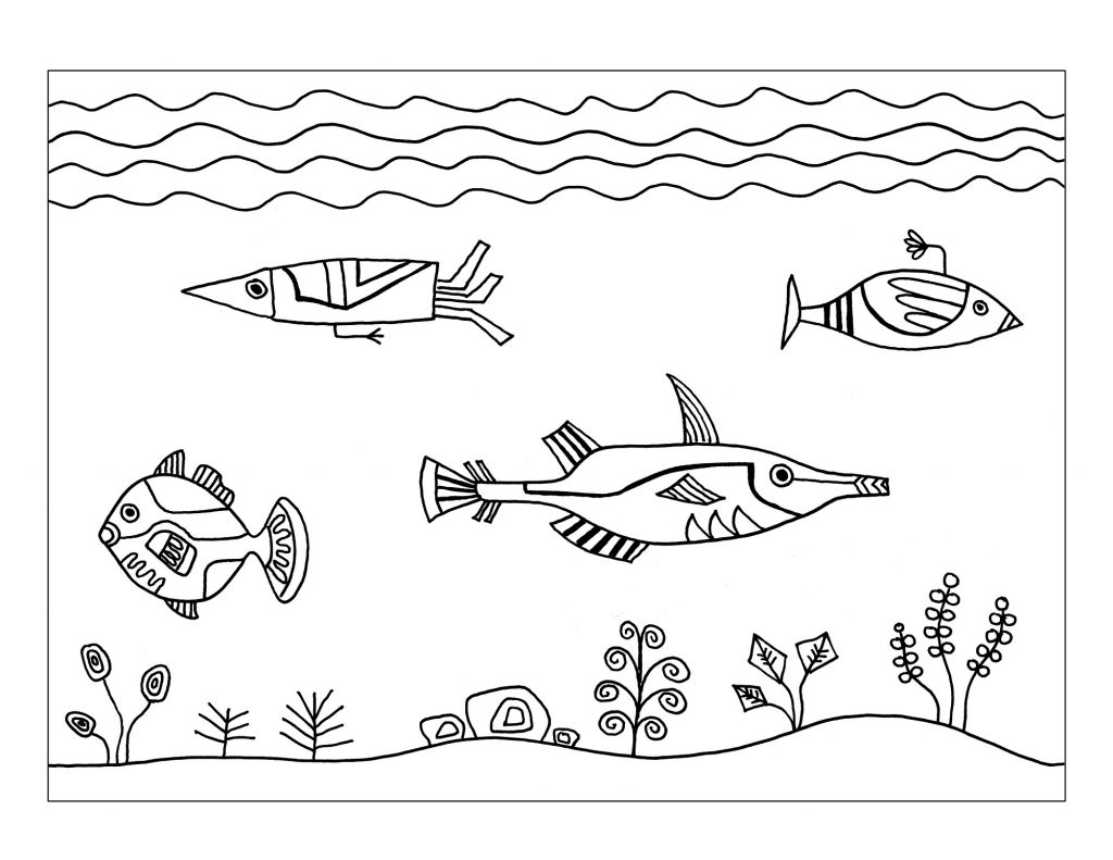 Easy Fun Fish Worksheets For Kids