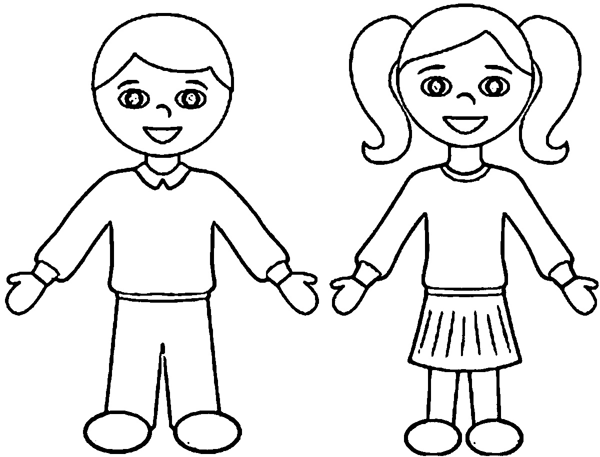 Girl And Boy Colour In Template Download Learning Printable
