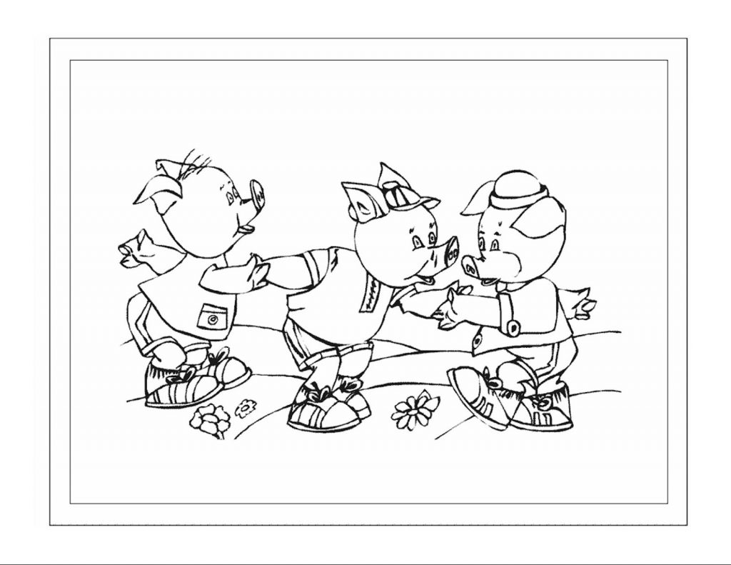 3 Little Pigs Coloring Pages For Preschoolers