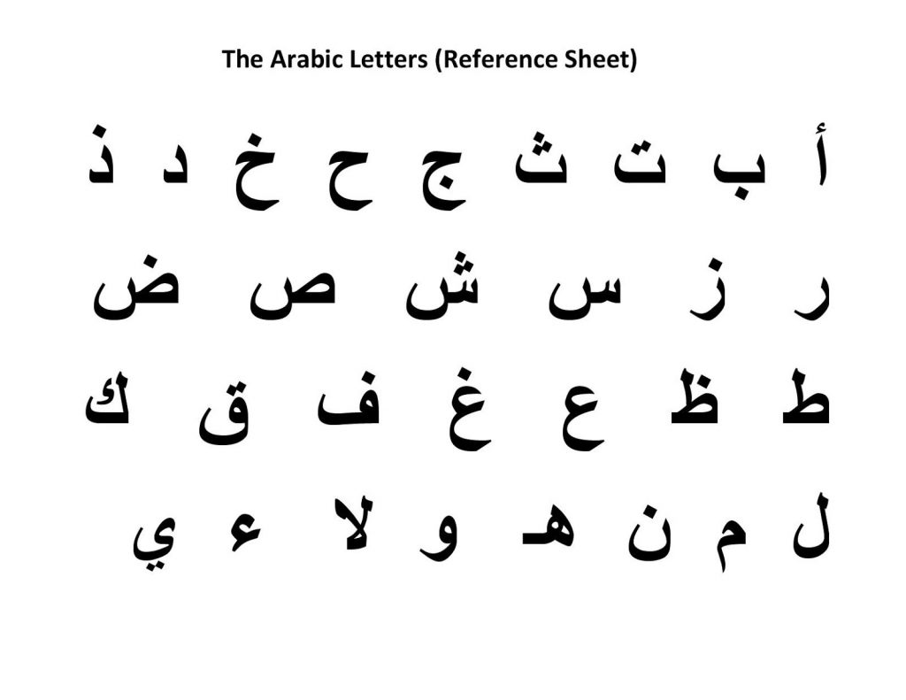 Arabic Letters For Children