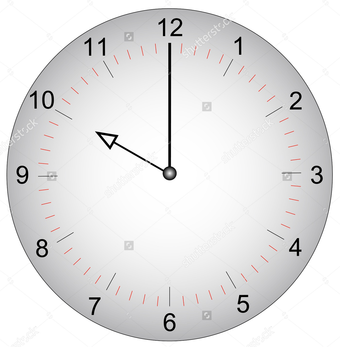 Face Of A Clock With Minutes Marked Learning Printable