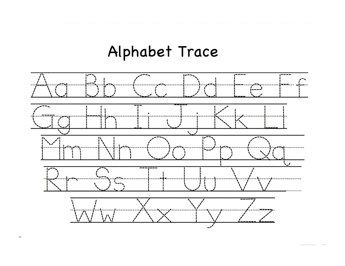 Free Alphabet Worksheets Trace Learning Printable