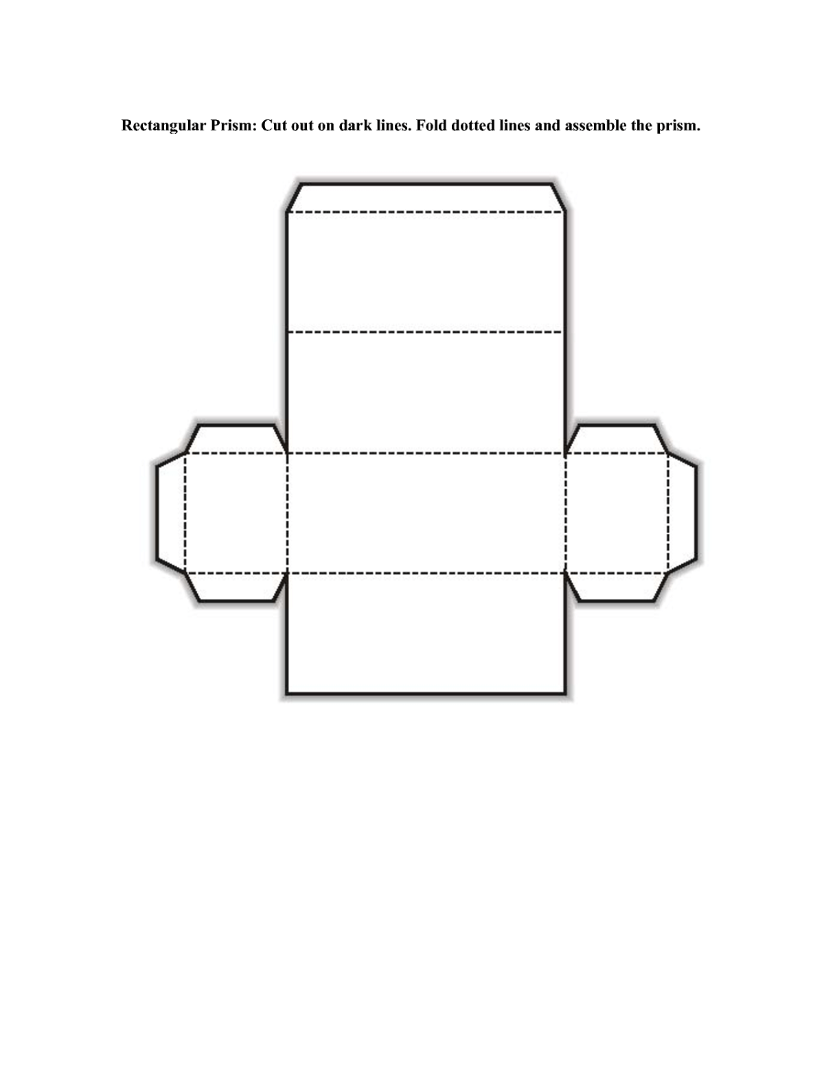 Rectangular Prism Net Page Learning Printable