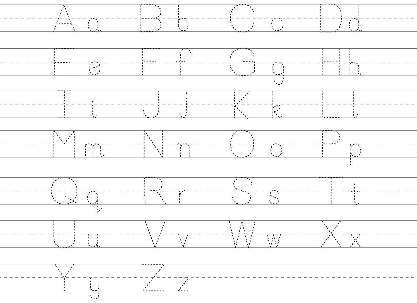 Trace Lowercase And Uppercase Alphabet Activity Learning Printable