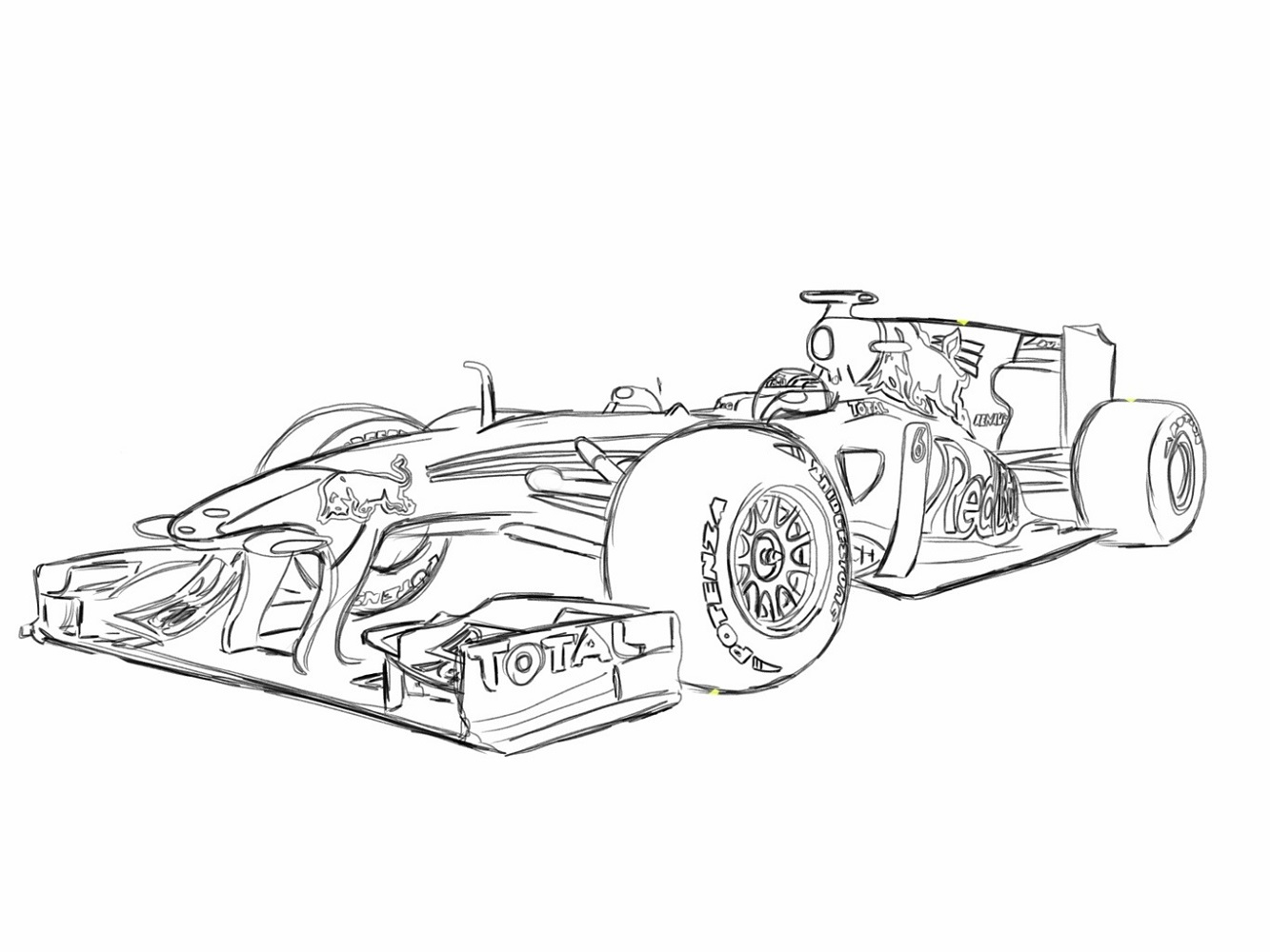 F1 Car Coloring Pages Learning Printable