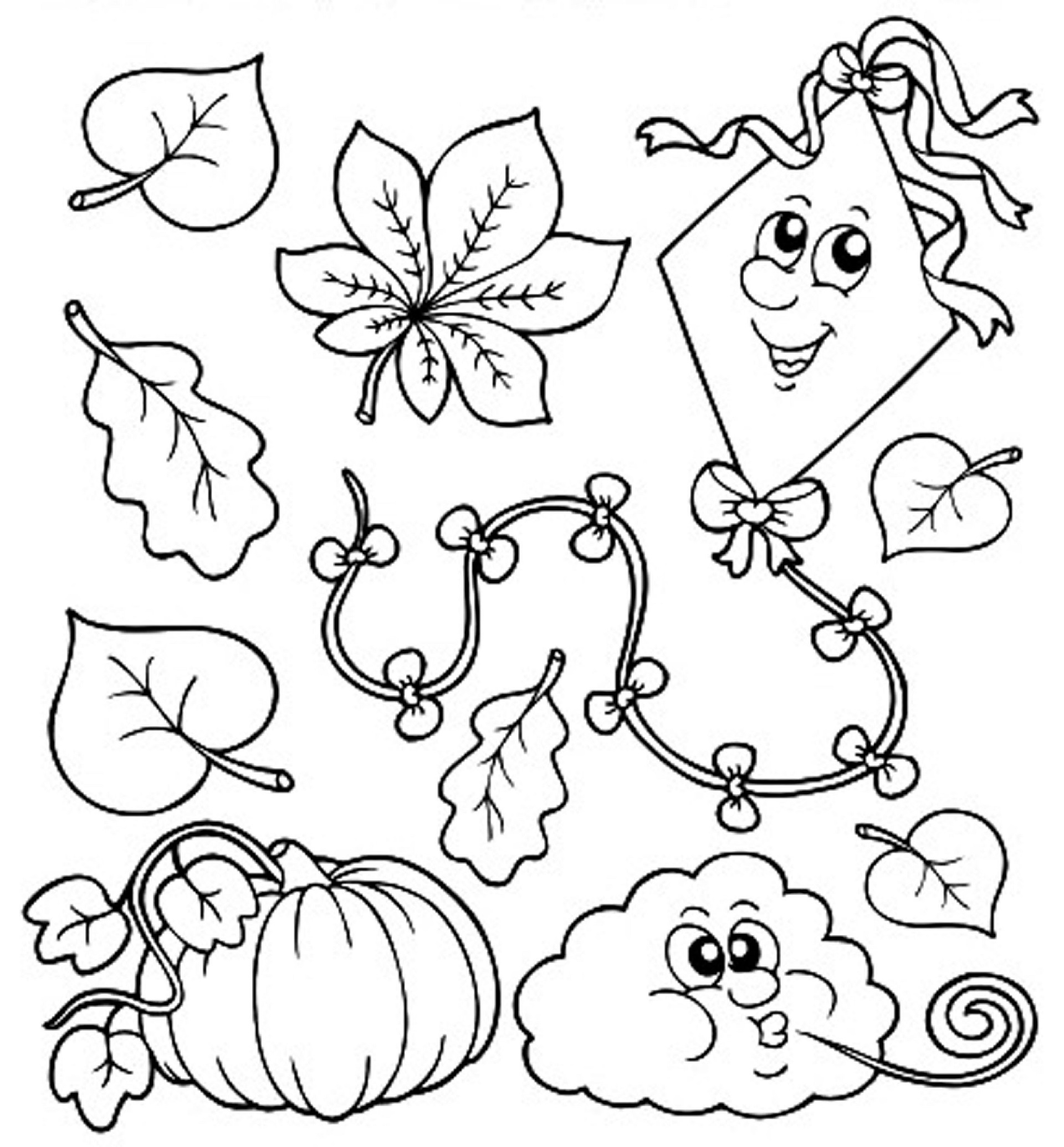 Fall Coloring Pages For Kindergarten
