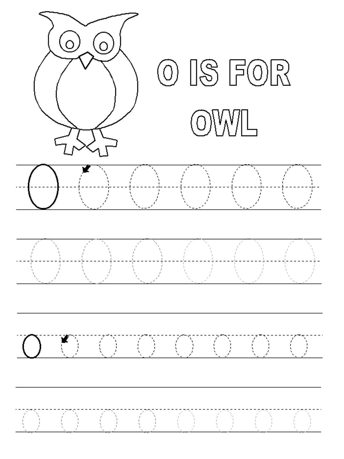 Printable O Worksheet