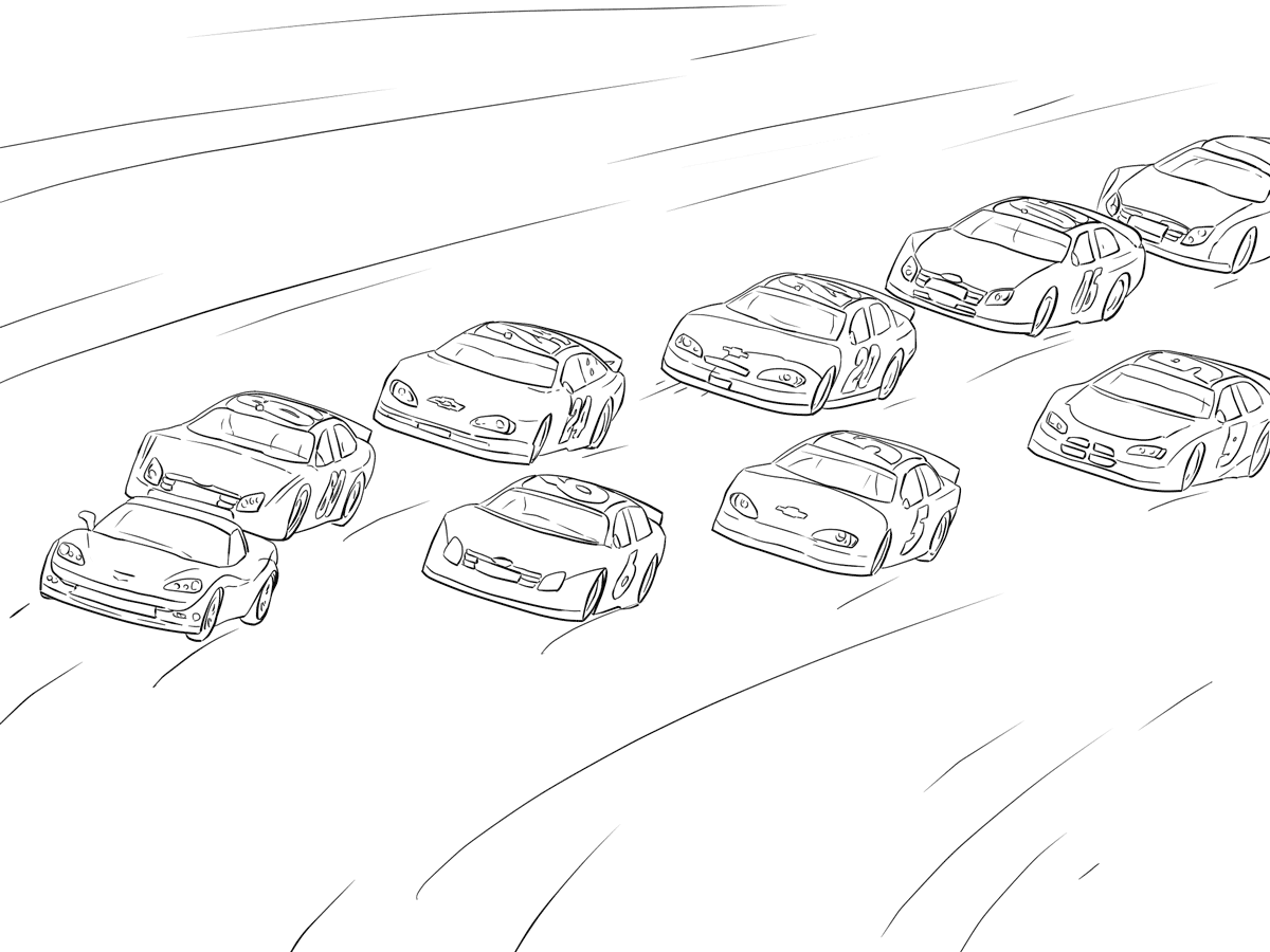 Race Car Coloring Pages Learning Printable