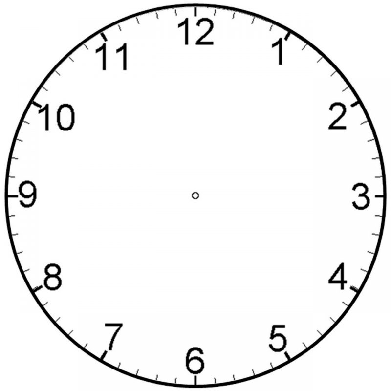 Printable Clock Face Minutes