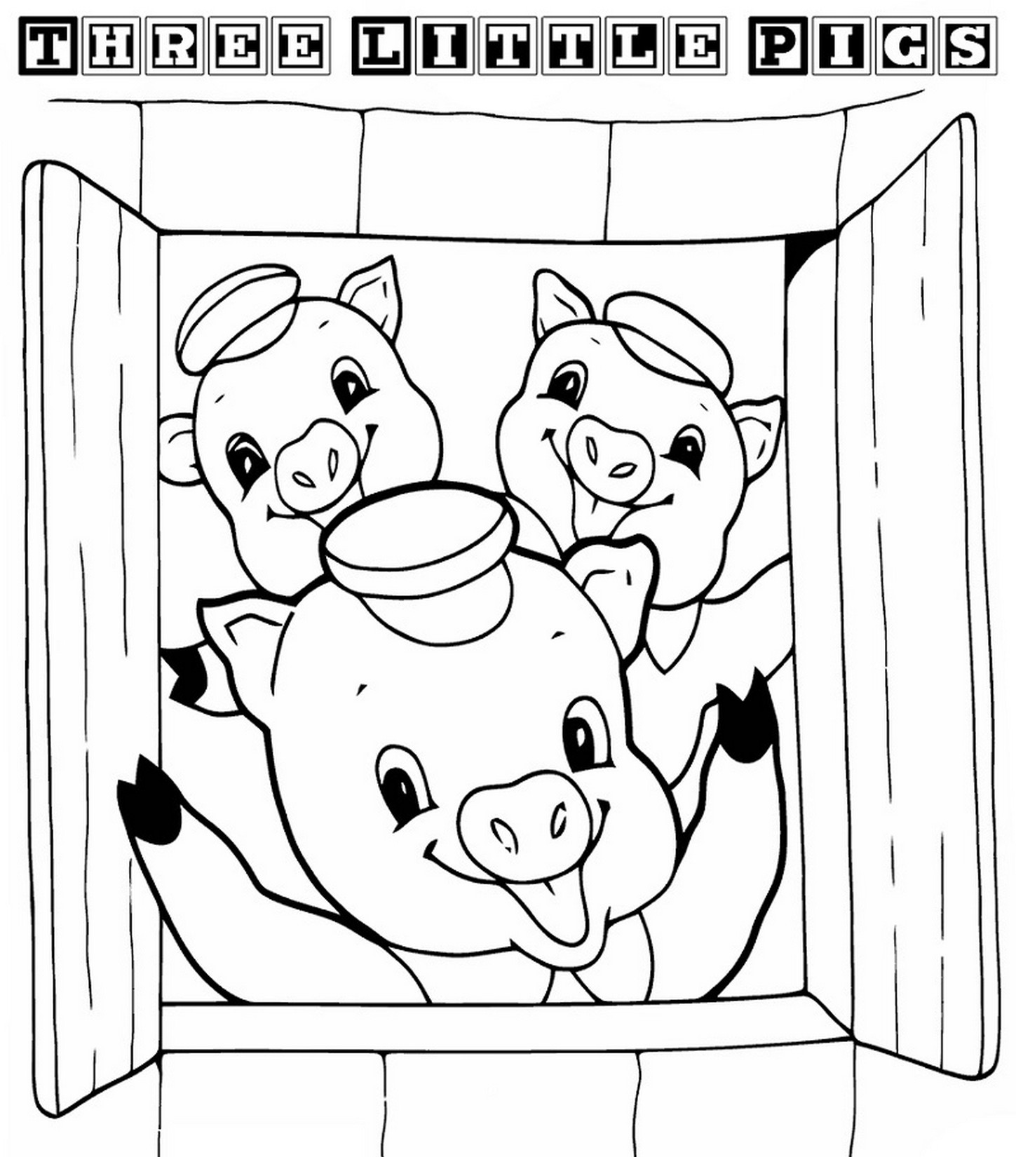 Three Little Pigs Coloring Pages For Preschool Activity Learning Printable