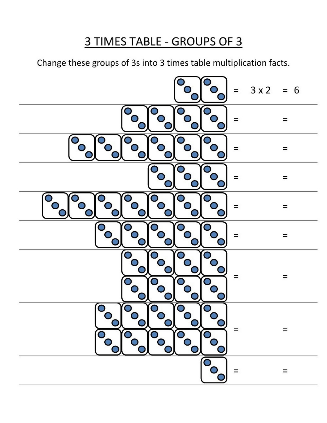 Time Tables Worksheet