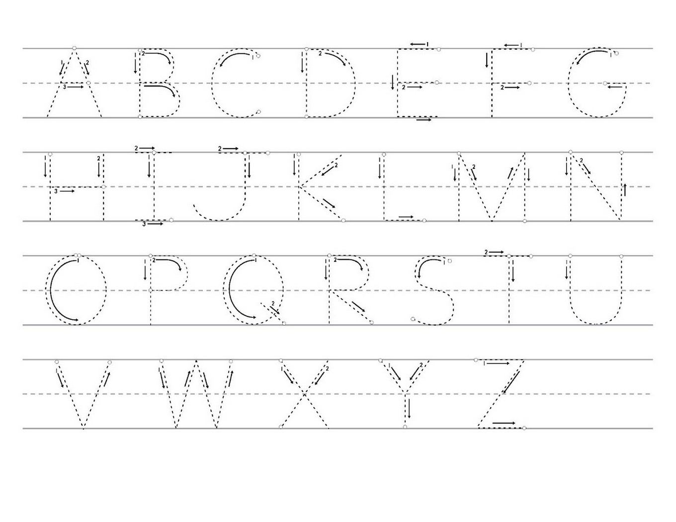 Tracing Letters A Z Worksheets