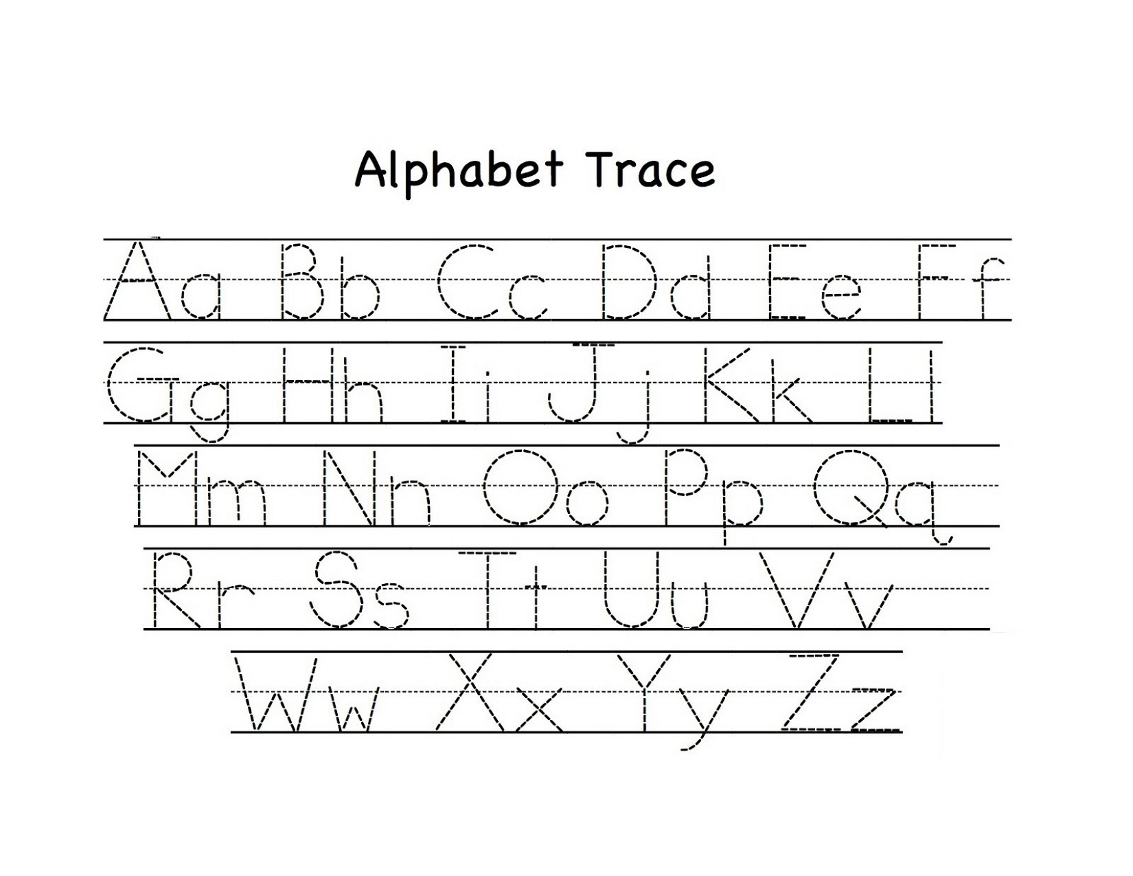 Printable Lowercase Tracing Worksheet