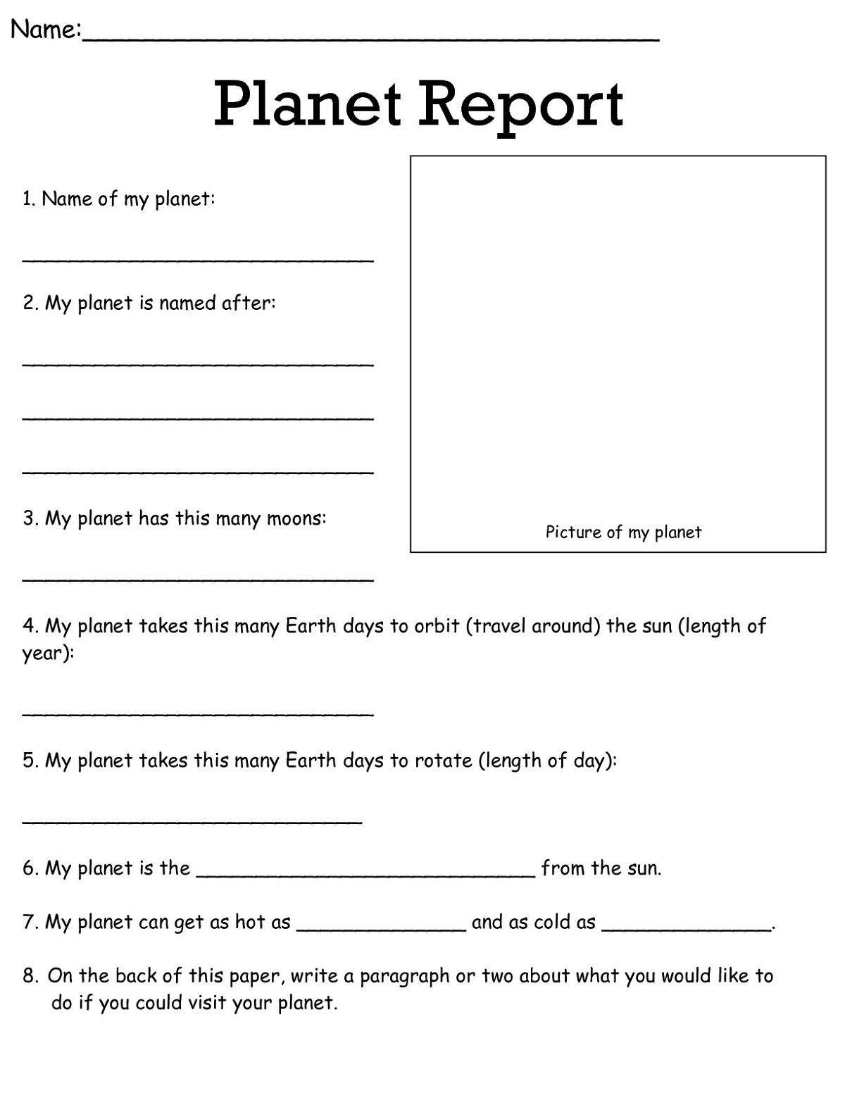 3rd Grade Worksheets Science Learning Printable