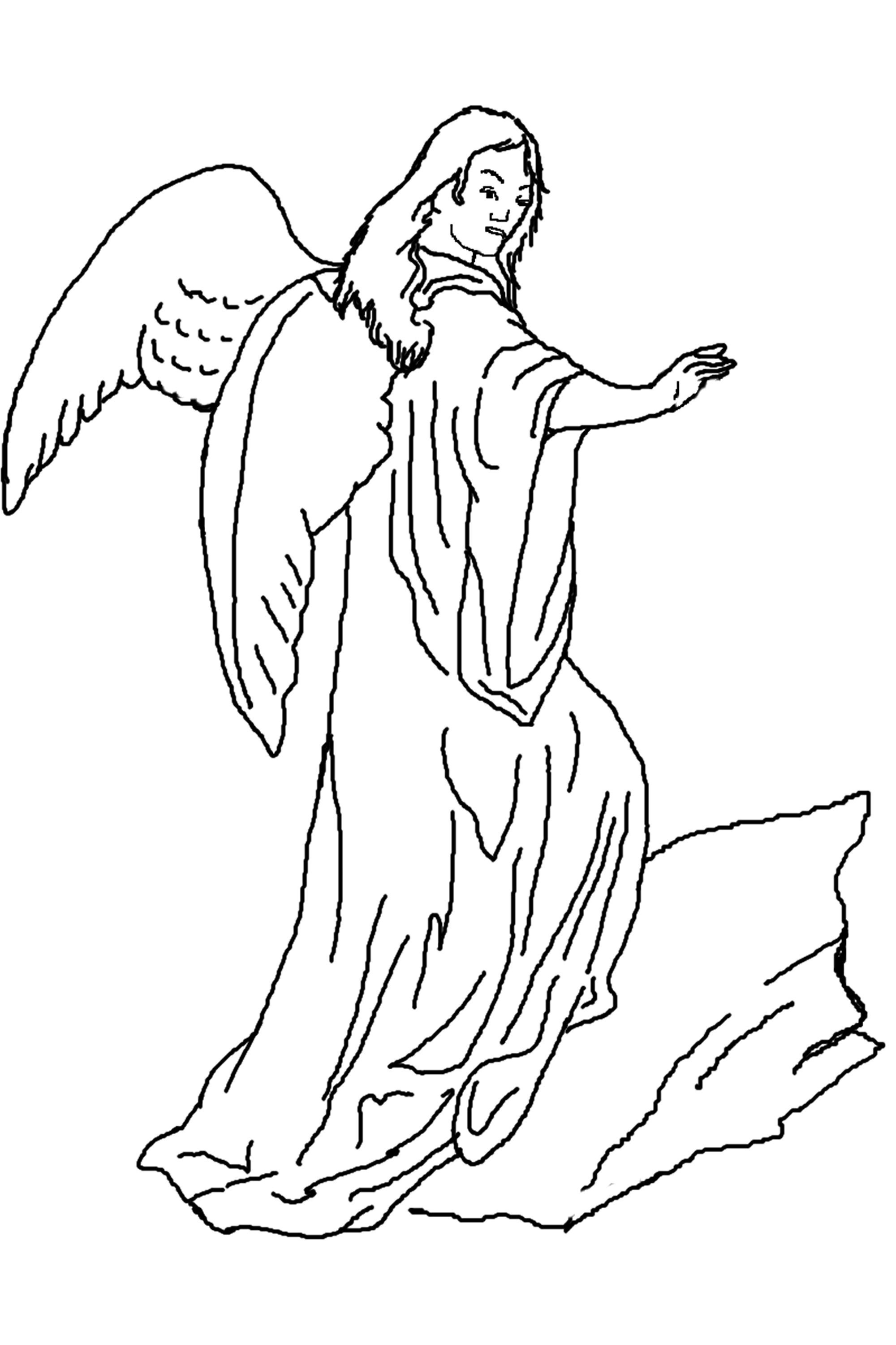 Angel Coloring Pages For Toddlers Learning Printable