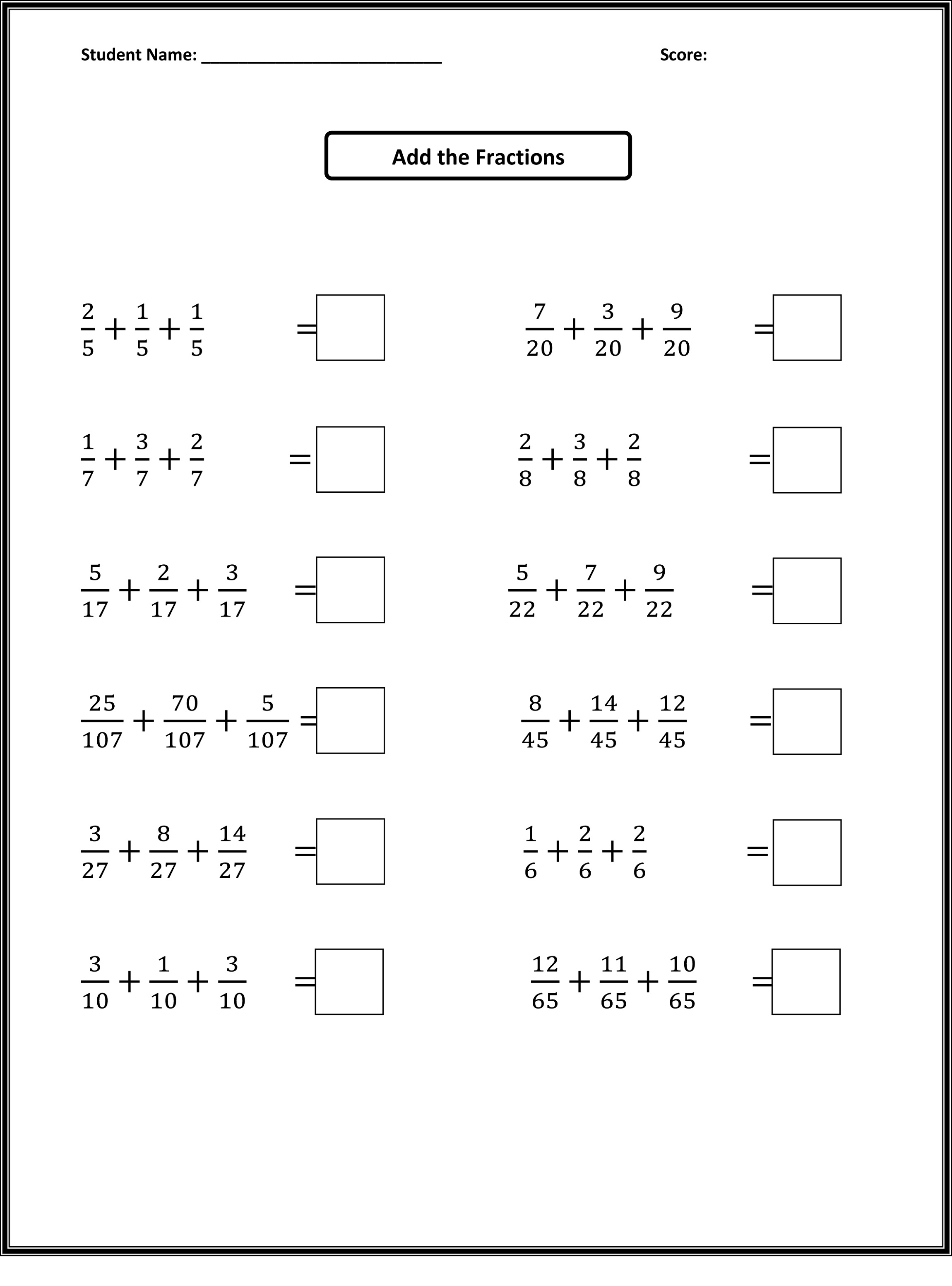 Fourth Grade Math Worksheets With Mixed Review