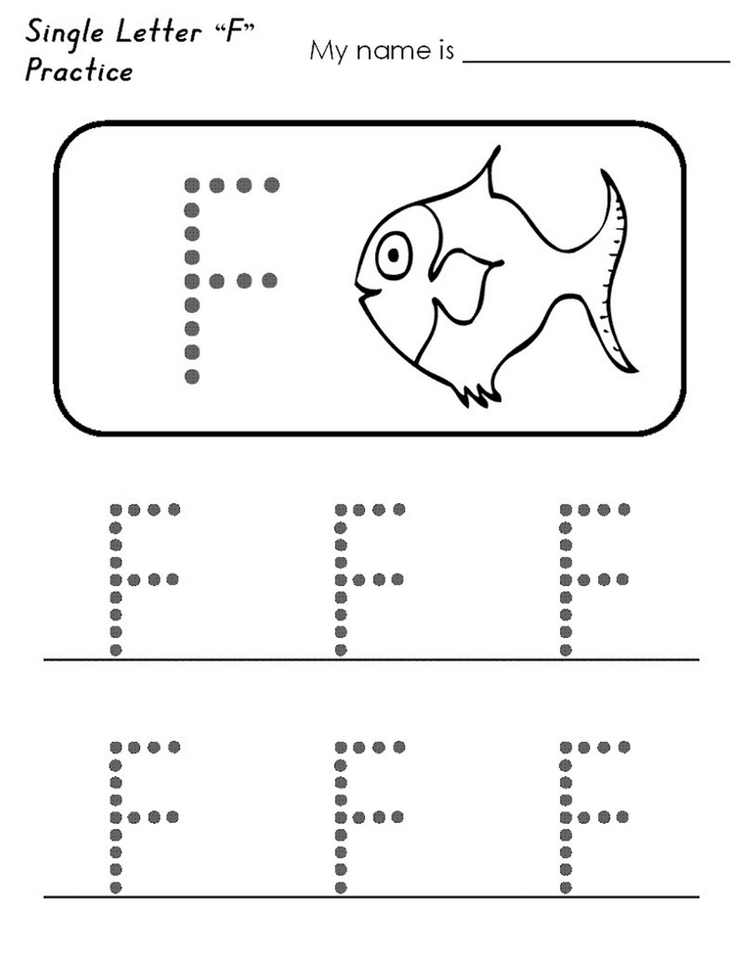 Letter F Worksheet Activities Easy Learning Printable