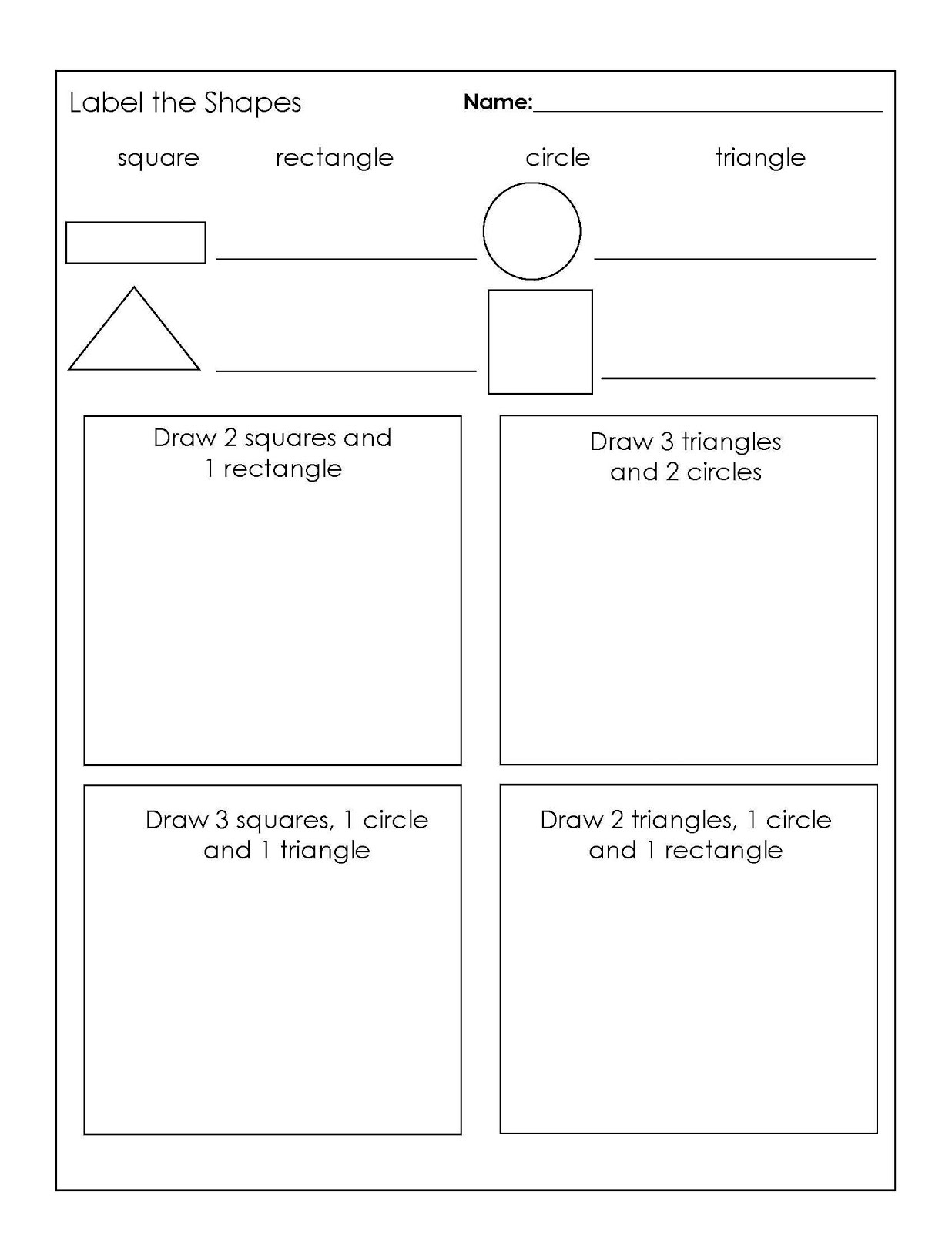 Perimeter Square Shapes Worksheet