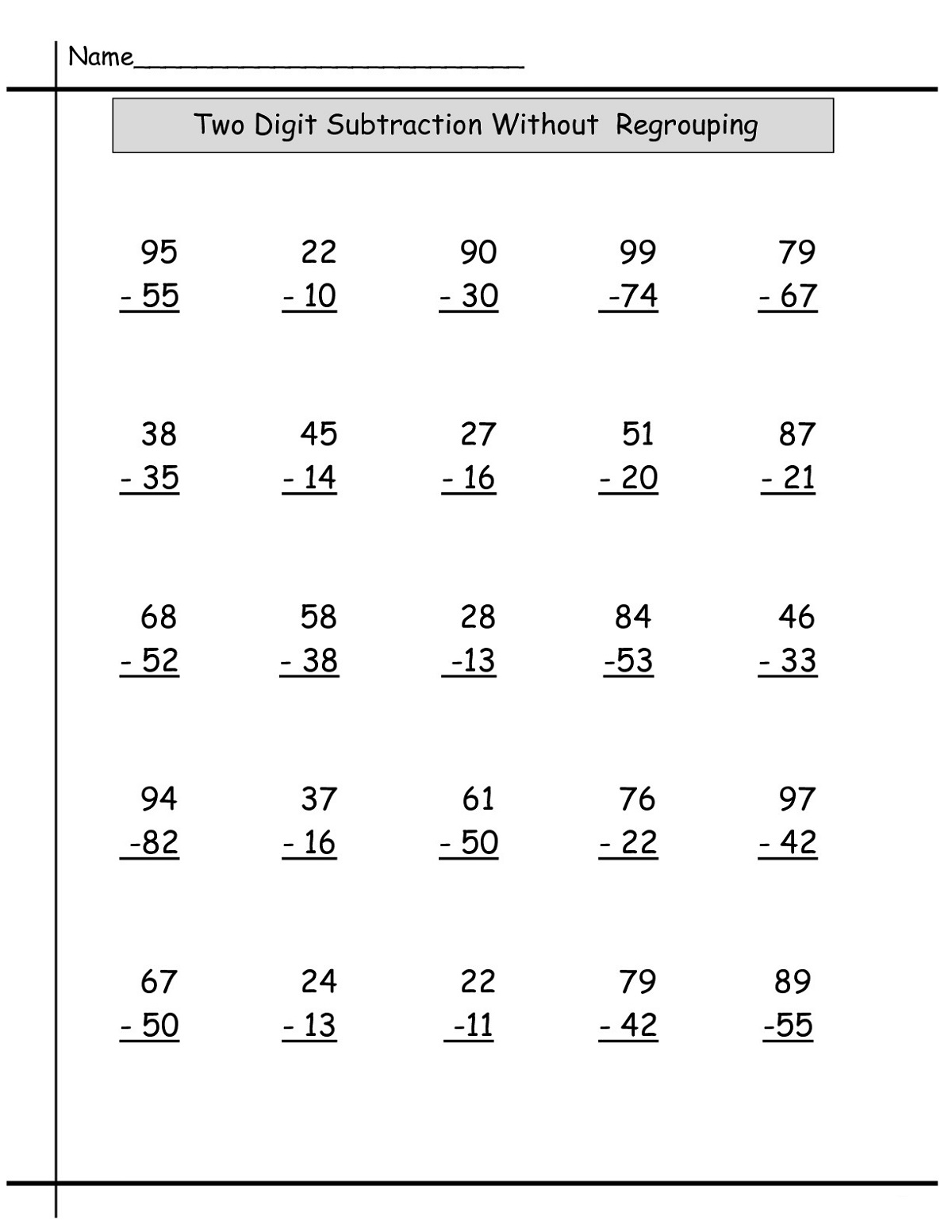 Addition And Subtraction Year 2 Maths Worksheets