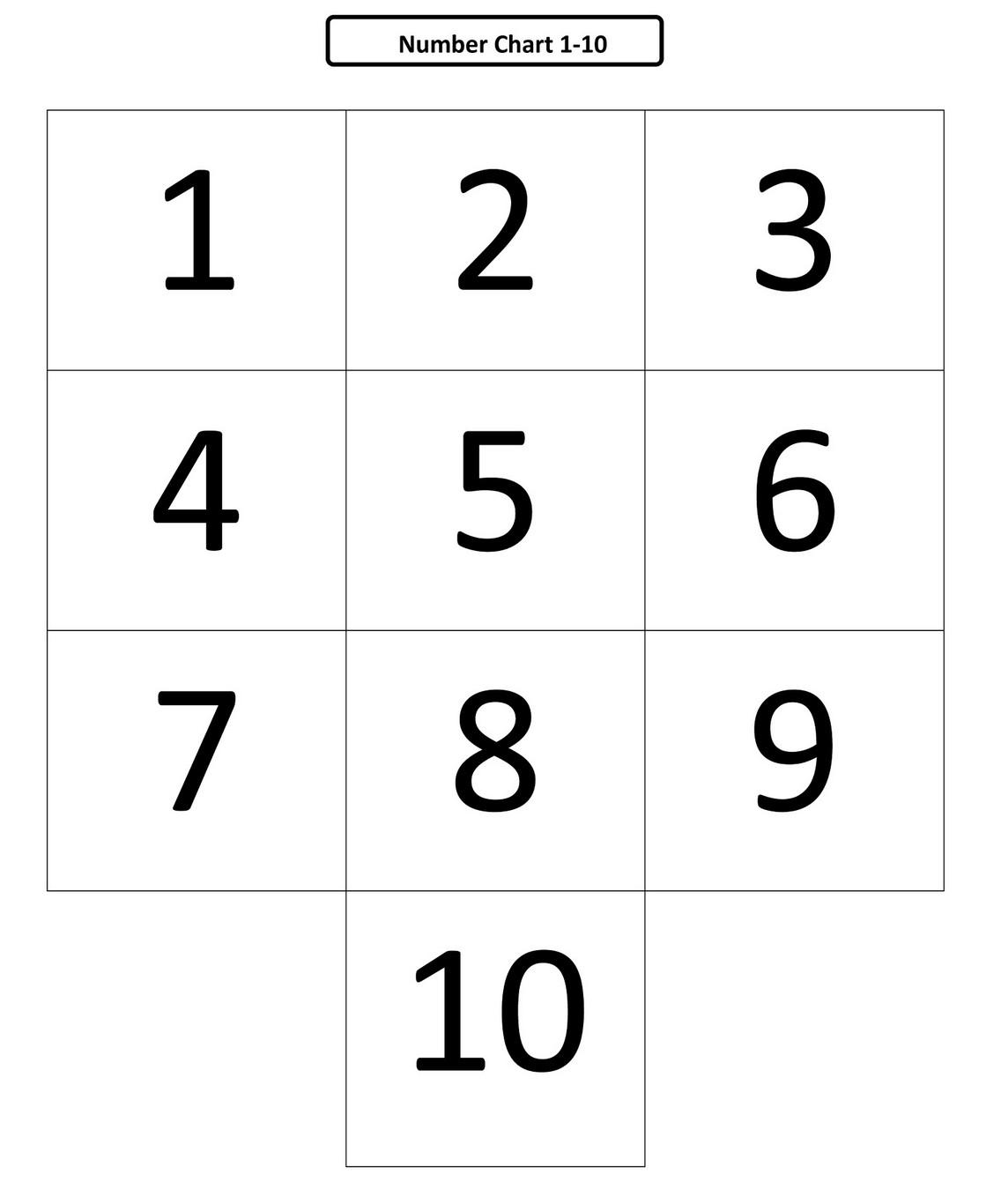 Free Numbers 1 10 Printable Learning Printable