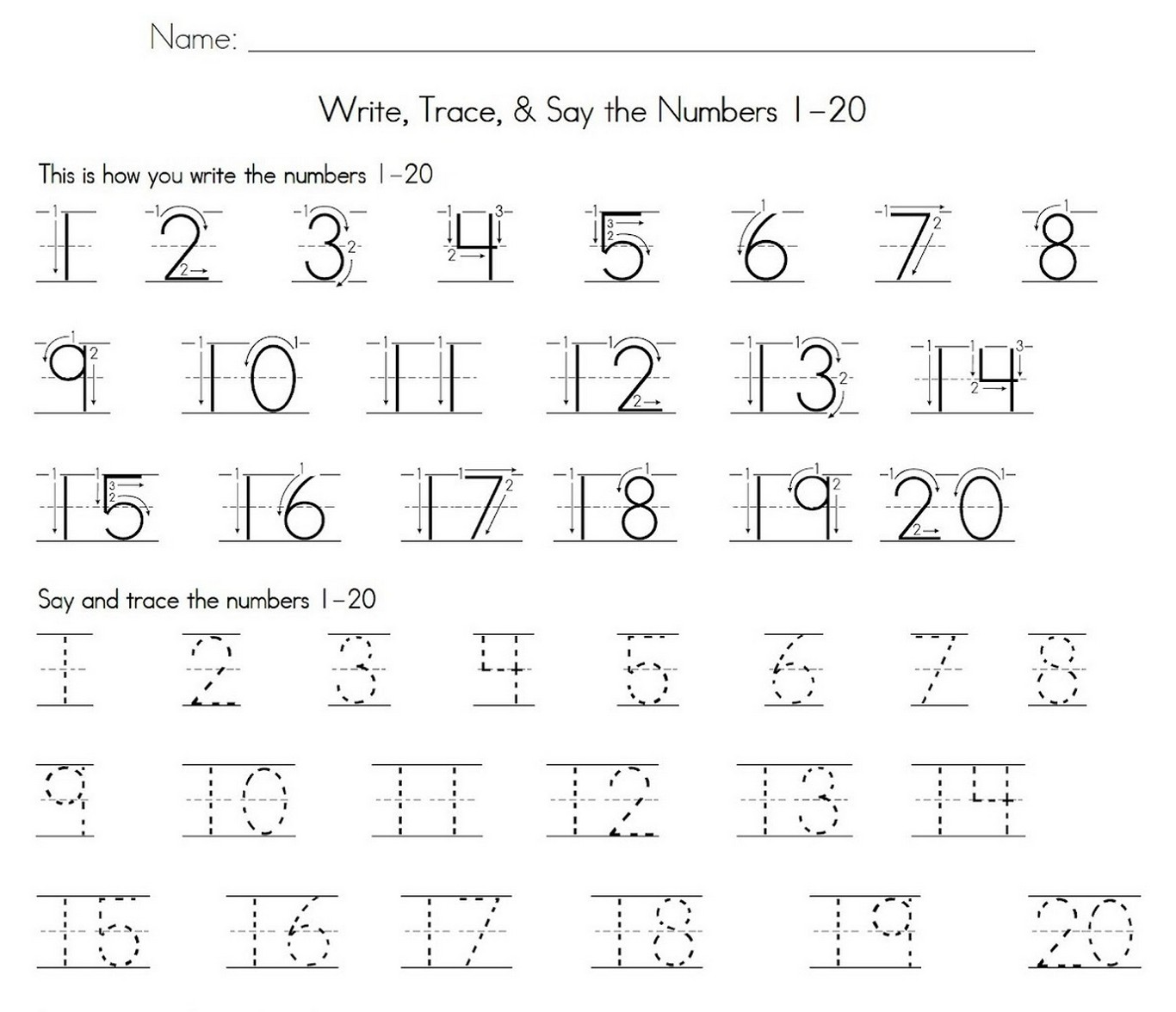 10 20 Practice Worksheet