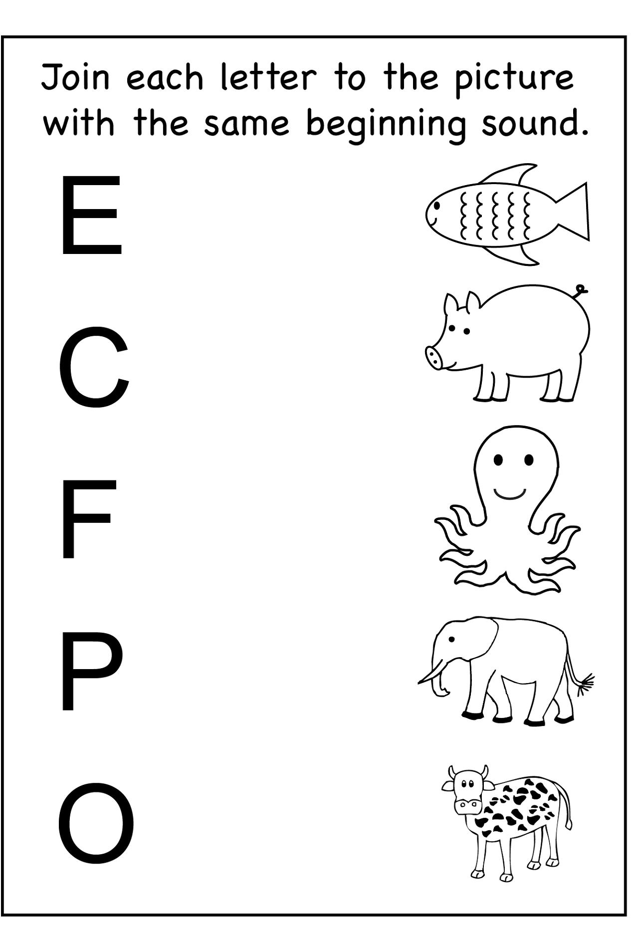 Worksheet For Kids Preschool Worksheet Activities