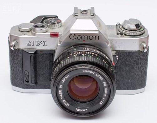 Canon AV-1, with 50mm f1.8 lens