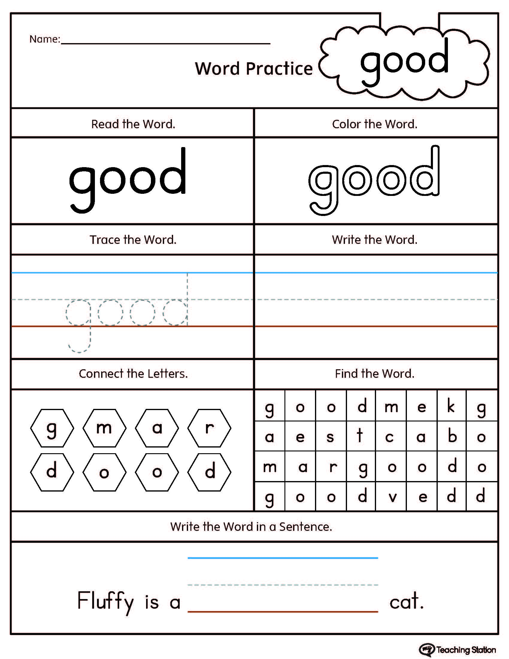 Best Free Word Family Worksheets Images Ap
