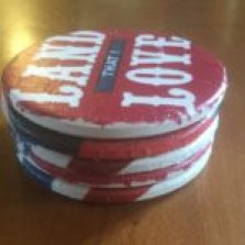 DIY Forth of July Coasters