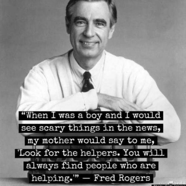 Something to always remember There will always be helpers peoplehellip