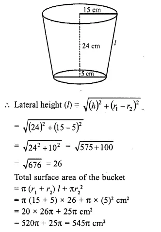 RD Sharma Class 10 Solutions Chapter 14 Surface Areas and VolumesEx 14.3 10