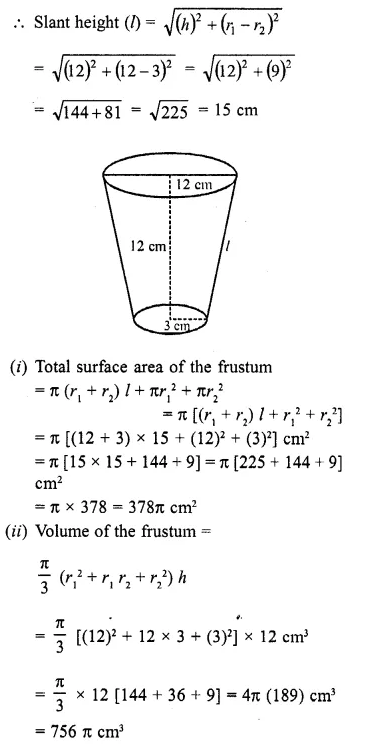 RD Sharma Class 10 Solutions Chapter 14 Surface Areas and VolumesEx 14.3 11