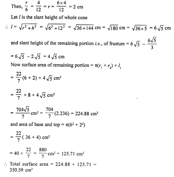 RD Sharma Class 10 Solutions Chapter 14 Surface Areas and VolumesEx 14.3 27