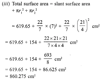 RD Sharma Class 10 Solutions Chapter 14 Surface Areas and VolumesEx 14.3 6